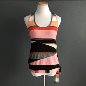 Desigual Striped Racerback Tank Top